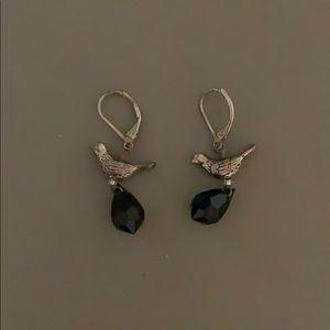 Beaded bird earrings